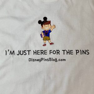 Close up - Just Here for Pins T-Shirt - White
